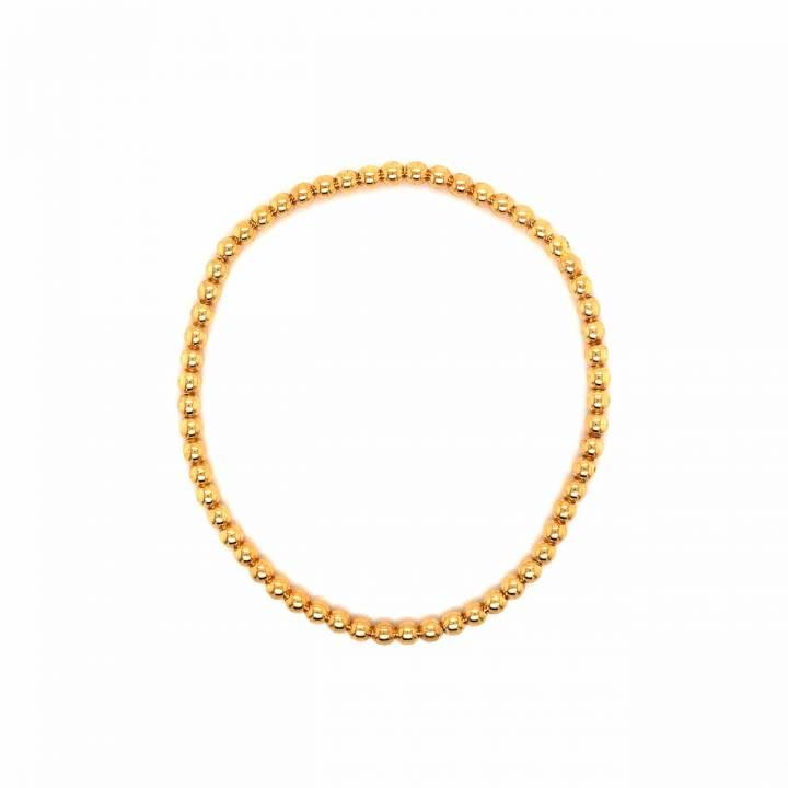 Kugelarmband flexibel 18kt Gelbgold