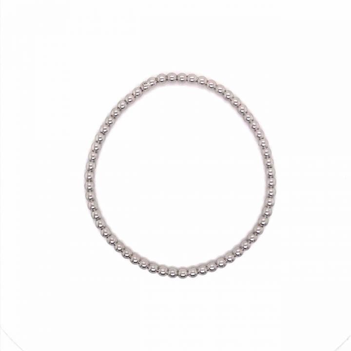 Kugelarmband flexibel 18kt Weißgold