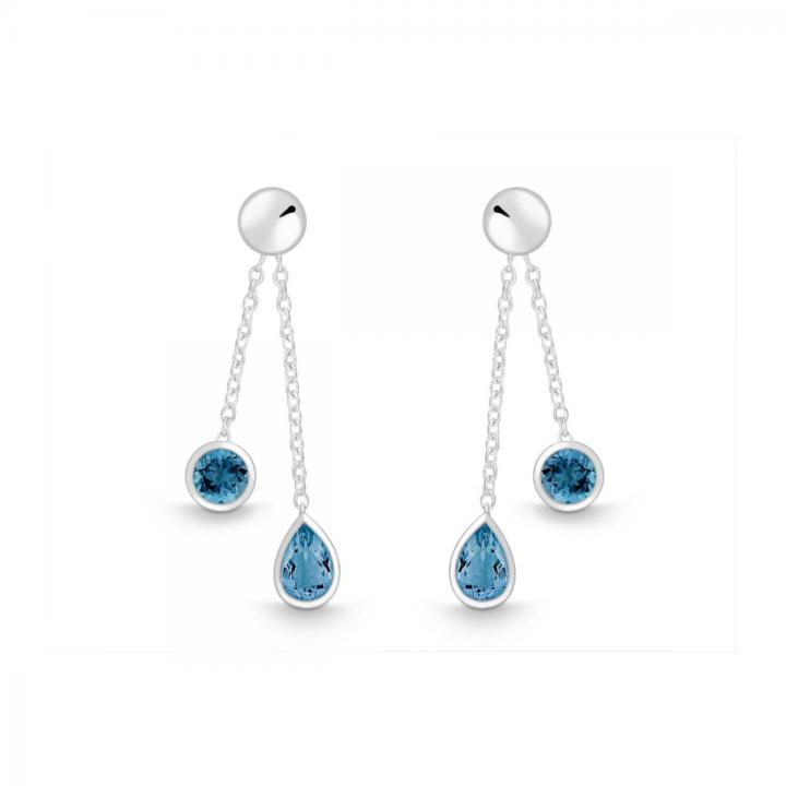 Ohrstecker Silber mit London Blue Topas
