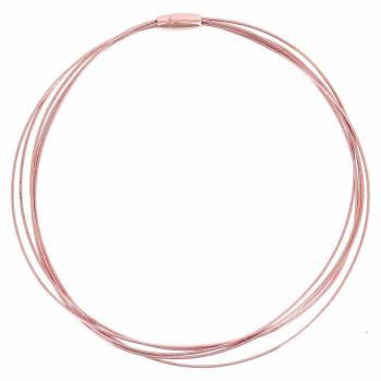 Pesavento Collier rosévergoldet 5-reihig DNA Spring (WDNAG468)