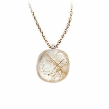 BIGLI Collier Mini Sweety Quartz Rutile Moonshine