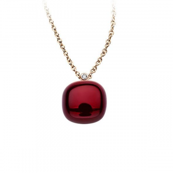 BIGLI Collier Mini Sweety Garnet Love