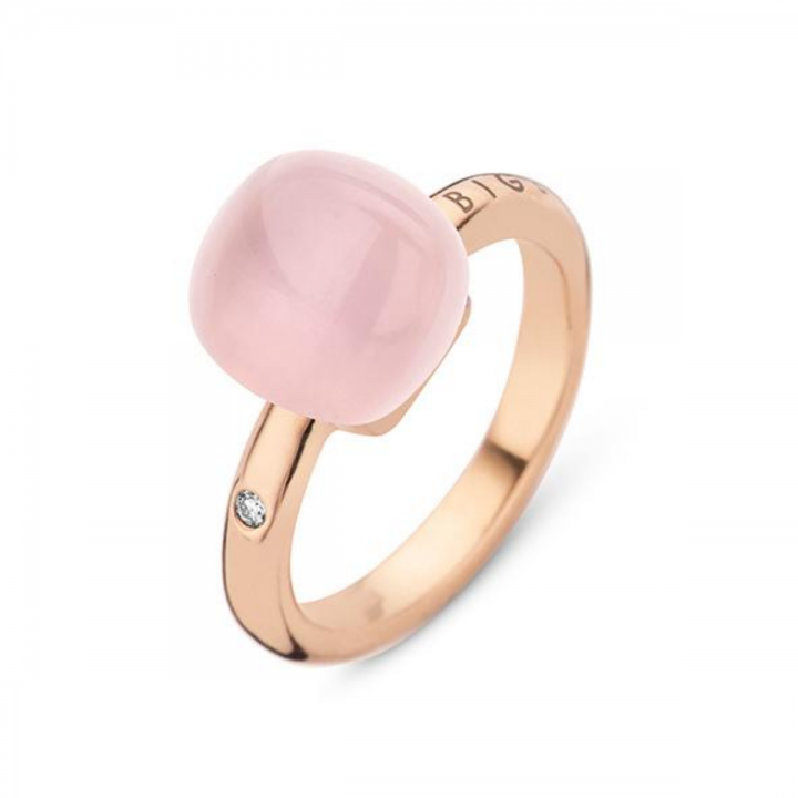 BIGLI Ring Mini Sweety Pink Quartz So Lovely