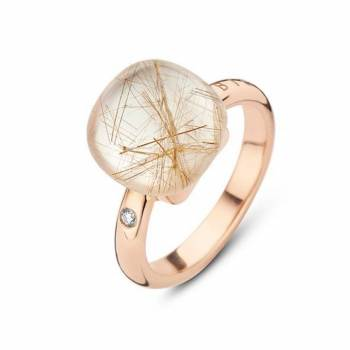 BIGLI Ring Mini Sweety Quartz Rutile Moonshine groß