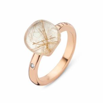 BIGLI Ring Mini Sweety Quartz Rutile Moonshine klein