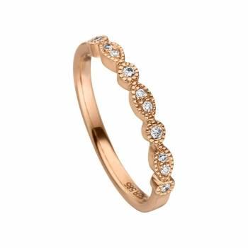 Brillant Ring 0,10ct Rotgold