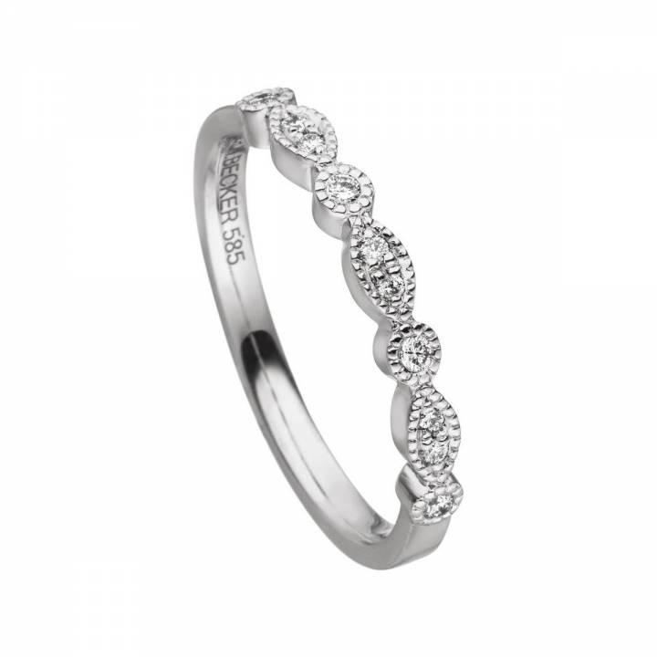 Brillant Ring 0,10ct Weißgold