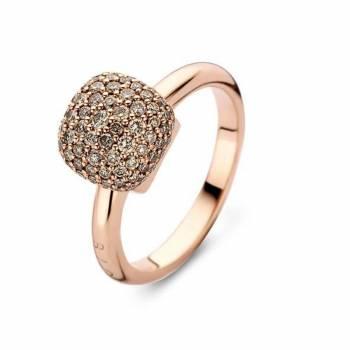 Brillant Ring BIGLI Pavé groß Roségold