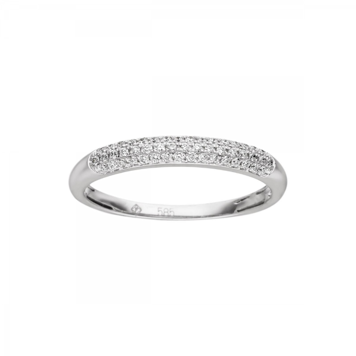 Brillant Ring pave 0,17ct Weißgold