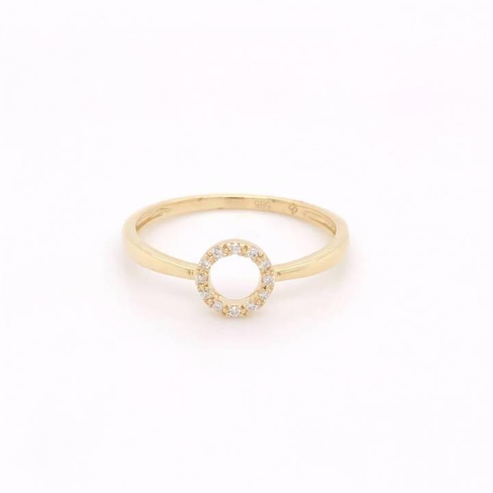 Diamant Ring Kreis Gelbgold