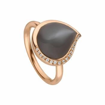 Mondstein Ring mit Brillanten 6,50ct Roségold