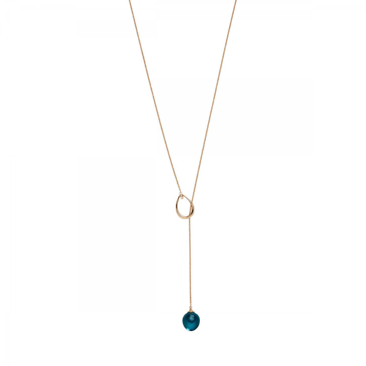 Y-Collier London Blue Topas mit Brillanten 10,3ct Roségold