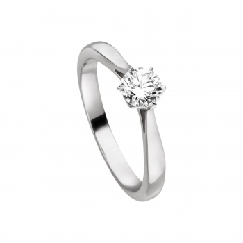 Brillant Ring 0,50ct Platin