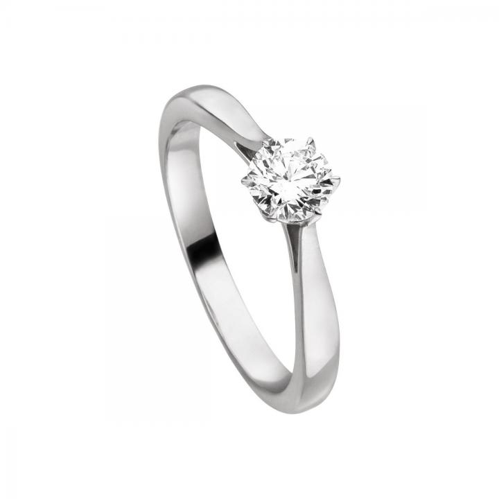 Brillant Ring 0,50ct Platin