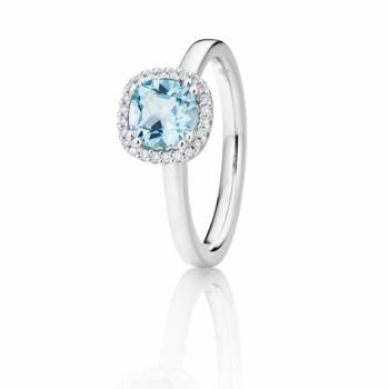 Capolavoro Ring Espressivo Blau Topas Antik