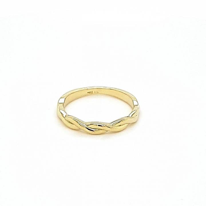 Gelbgold Ring gekordelt