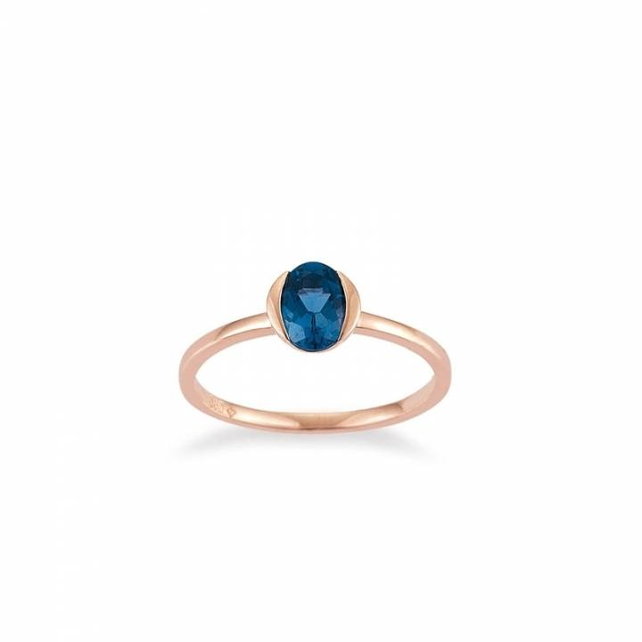 LondonBlue Topas Ring Roségold