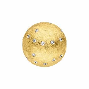 Perlschließe mit Brillanten Gelbgold