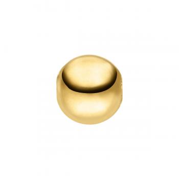 Perlschließe rund Gelbgold