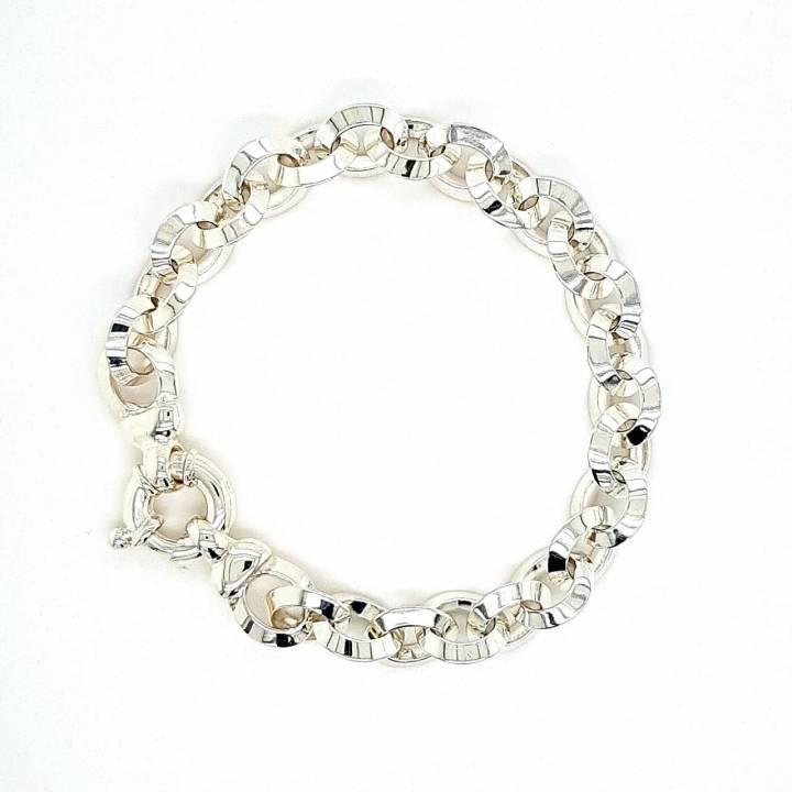 Silber Armband Anker oval 19cm