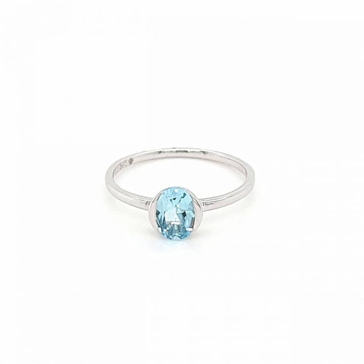 Skyblue Topas Ring Weißgold