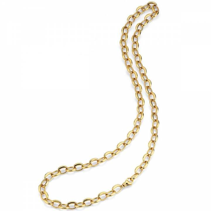 Collier poliert 80cm lang Gelbgold