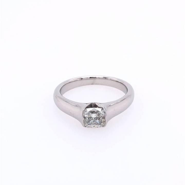 Diamant Ring 1,01ct Cushion Cut Weißgold