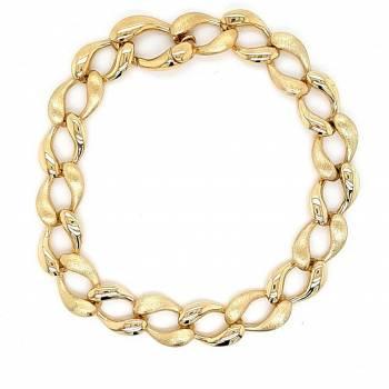 Gelbgold Armband Fantasie 19 cm