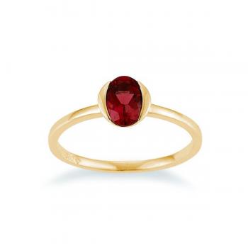 Granat Ring Gelbgold