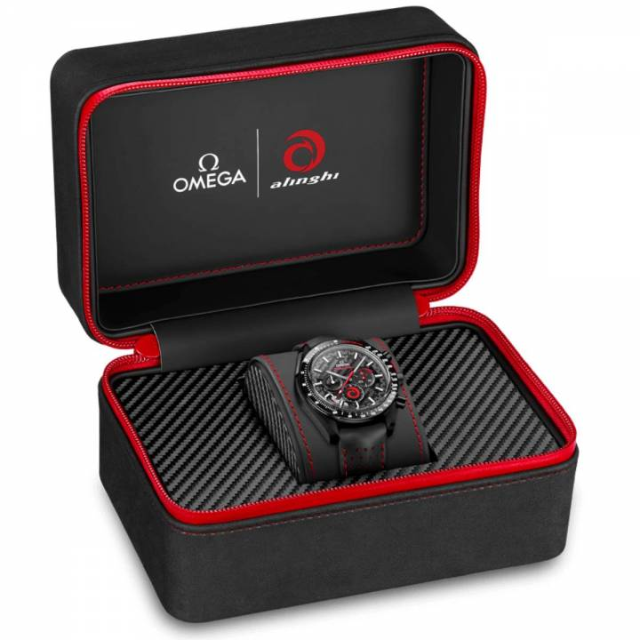 Omega Speedmaster Dark Side of the Moon Alinghi Box