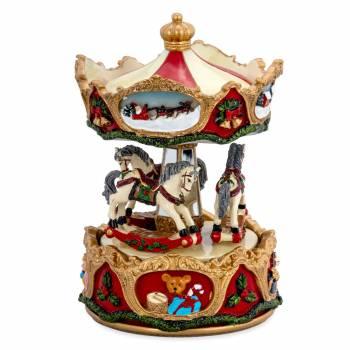 Spieluhr Karussel Pferde