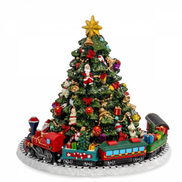 Spieluhr Weihnachtsbaum mit Zug