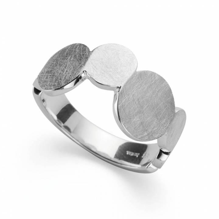 Bastian Ring Silber mit kratzmatt 38110