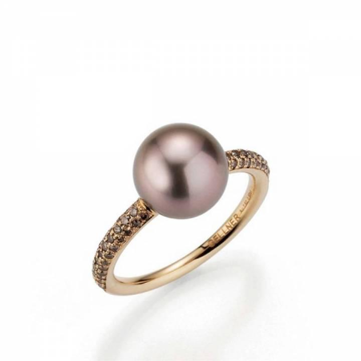 Gellner Ring mit Tahitiperle und Brillanten 5-22811-02