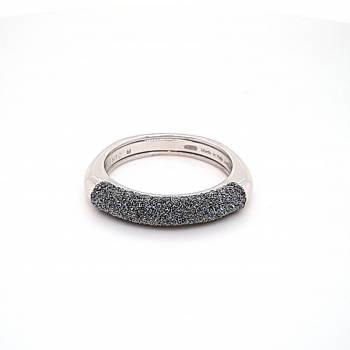 Pesavento Ring Weißgold mit Diamantstaub