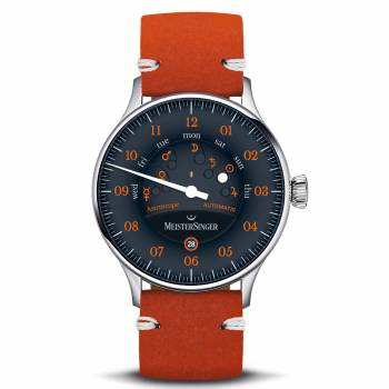 MeisterSinger Edition Astroscope schwarz-orange (ED-AS902O) Herrenuhr