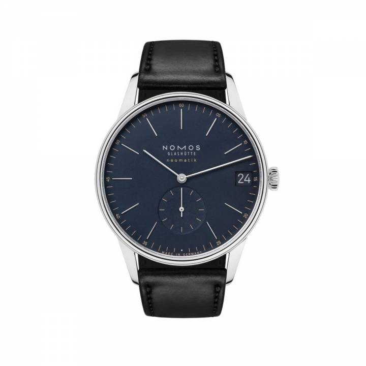Nomos Orion neomatik 41 Datum nachtblau - Vintage Uhr