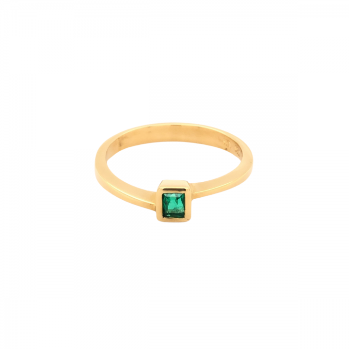 Smaragd Ring 0,18ct Gelbgold