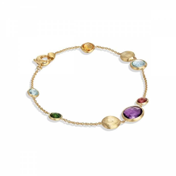 MARCO BICEGO Armband Jaipur 18kt Gelbgold mit multicolor Edelsteinen (BB1485 MIX01)