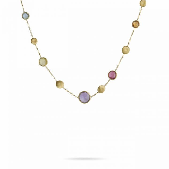 MARCO BICEGO Collier Jaipur 18kt Gelbgold mit multicolor Edelsteinen (CB1243 MIX01)
