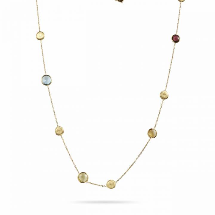 MARCO BICEGO Collier lang Jaipur 18kt Gelbgold mit multicolor Edelsteinen (CB1238 MIX01)