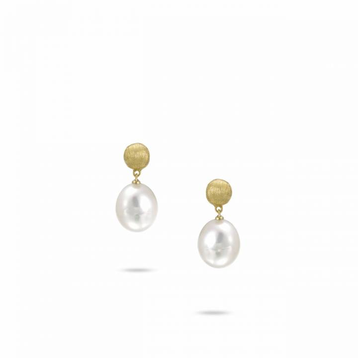 MARCO BICEGO Ohrstecker Africa 18kt Gelbgold mit Perle (OB1011 PL01)