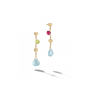 MARCO BICEGO Ohrstecker lang Paradise 18kt Gelbgold mit multicolor Edelsteinen (OB1430 MIX02)