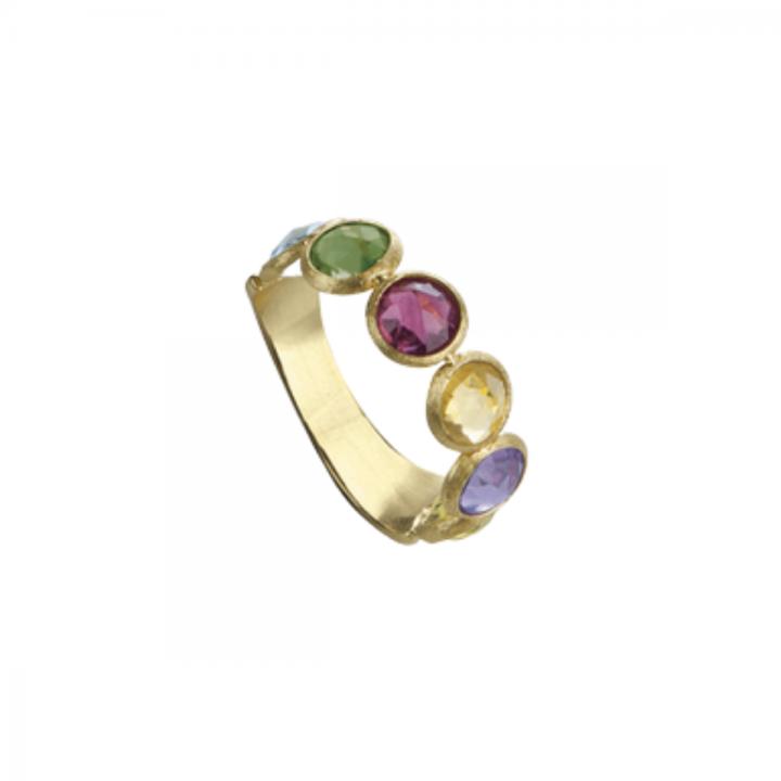 MARCO BICEGO Ring Jaipur 18kt Gelbgold mit multicolor Edelsteinen (AB461 MIX01)
