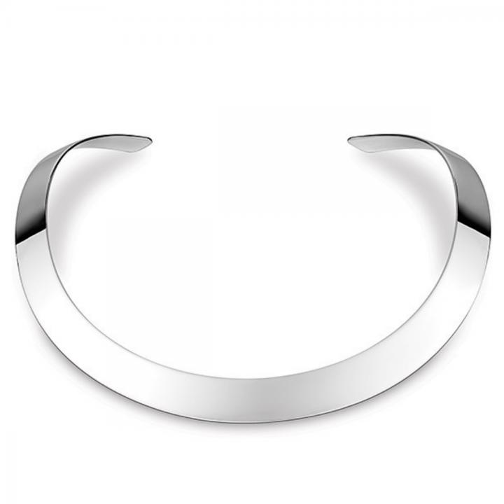 Silber Halsreif poliert 12 mm