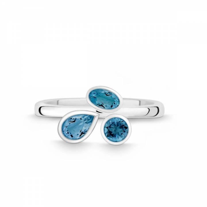 Silber Ring mit LondonBlue Topasen