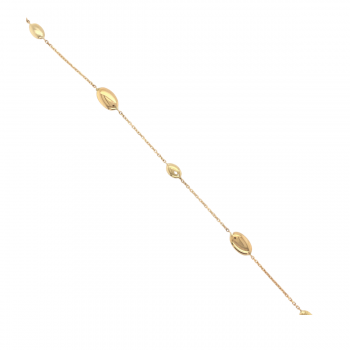 Armband poliert Gelbgold 1