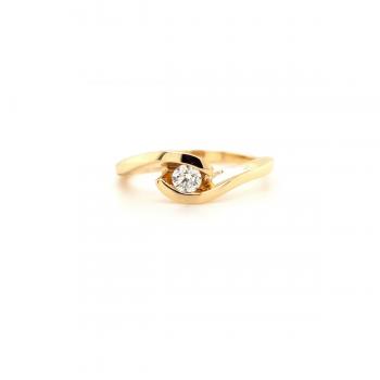 Brillant Ring 0,15ct Gelbgold.