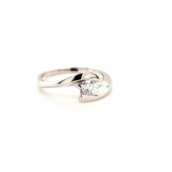 Brillant Ring 0,25ct Weißgold2