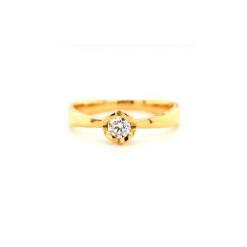 Brillant Ring Herz 0,15 ct Gelbgold